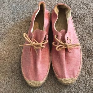 Red Soludos espadrilles. size 40. WORN ONCE